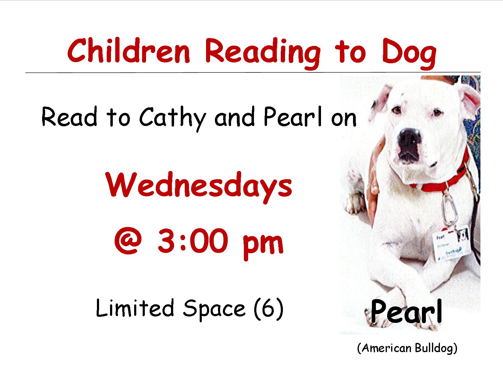 Reading to Pearl Signs