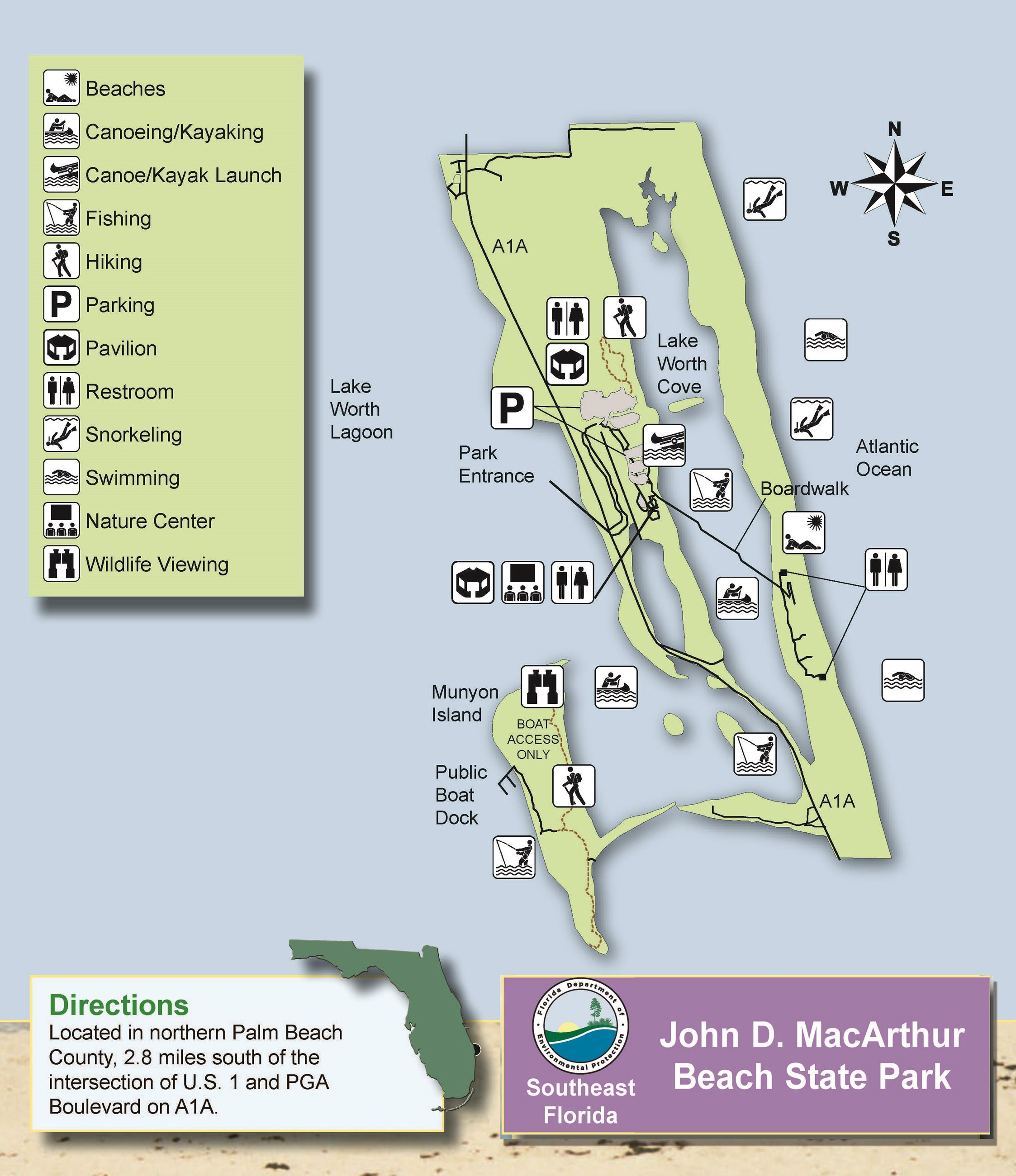 MacArthur Beach brochure map
