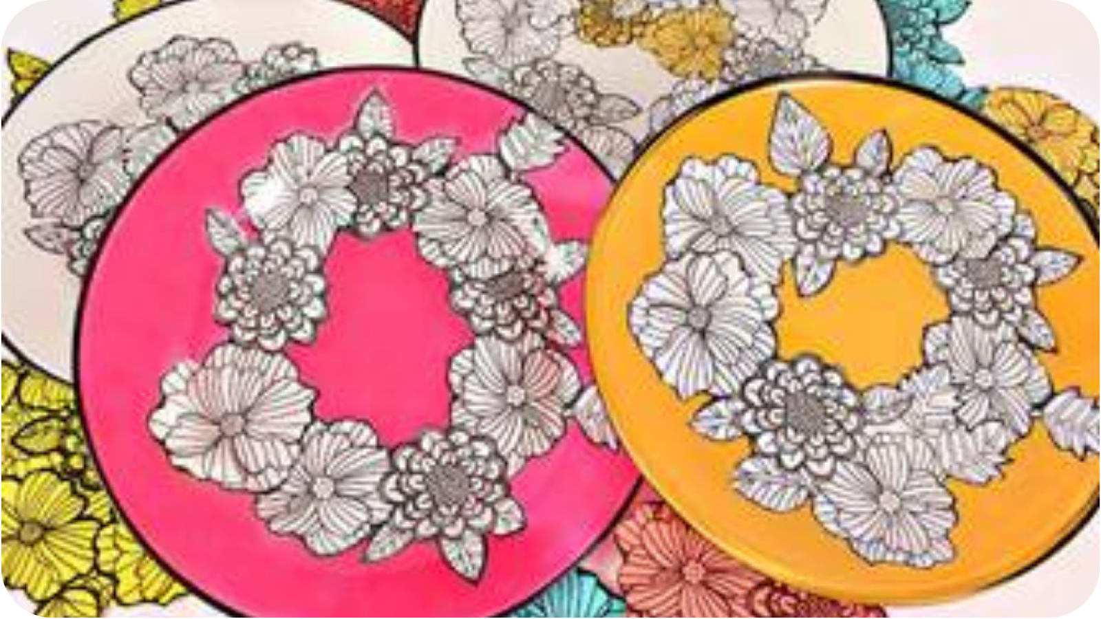 DIY Coloring Book Dishes