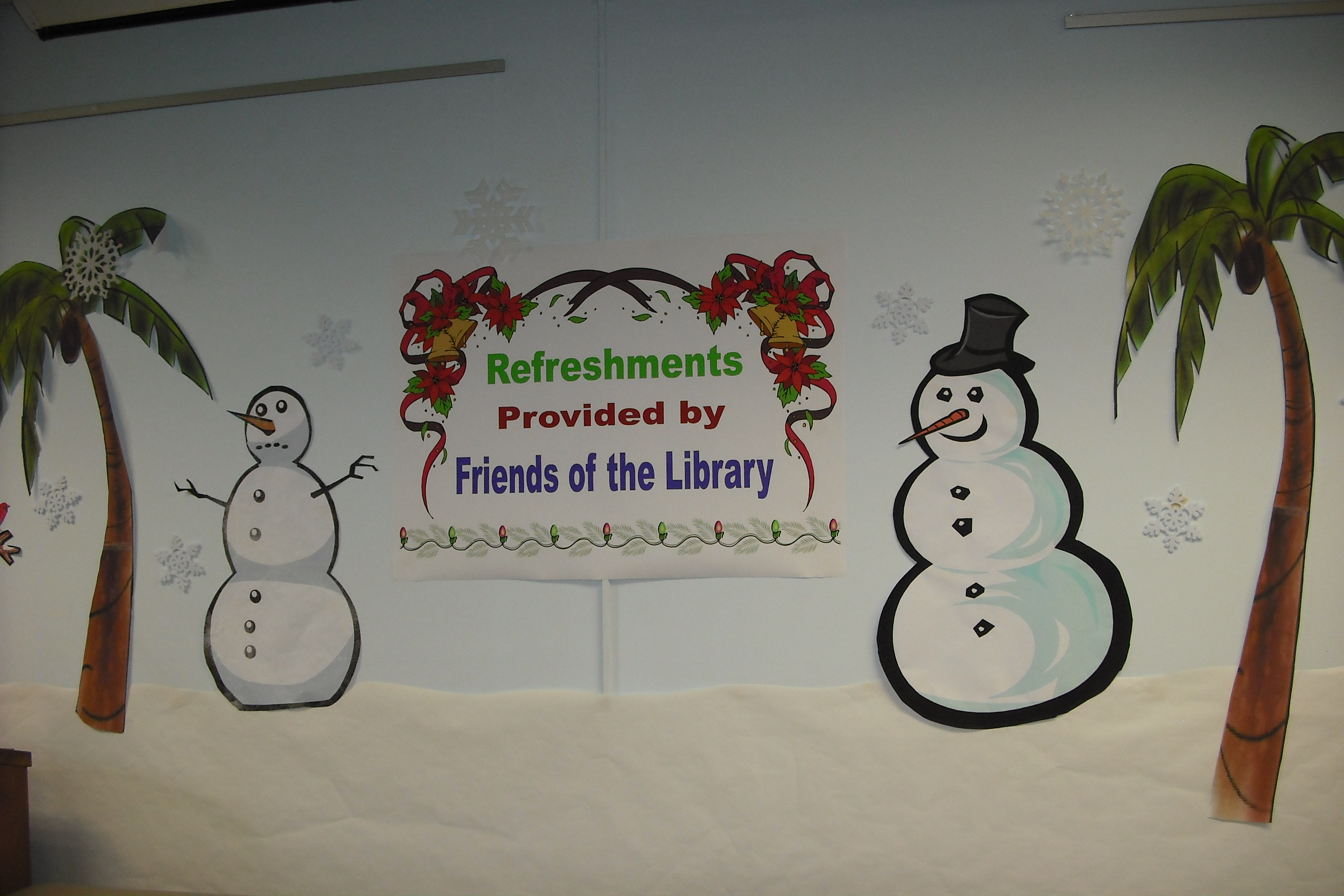Refreshments were provided by the Friends of the Library