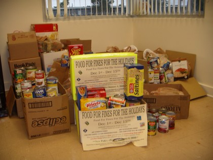 Food for Fines Drive