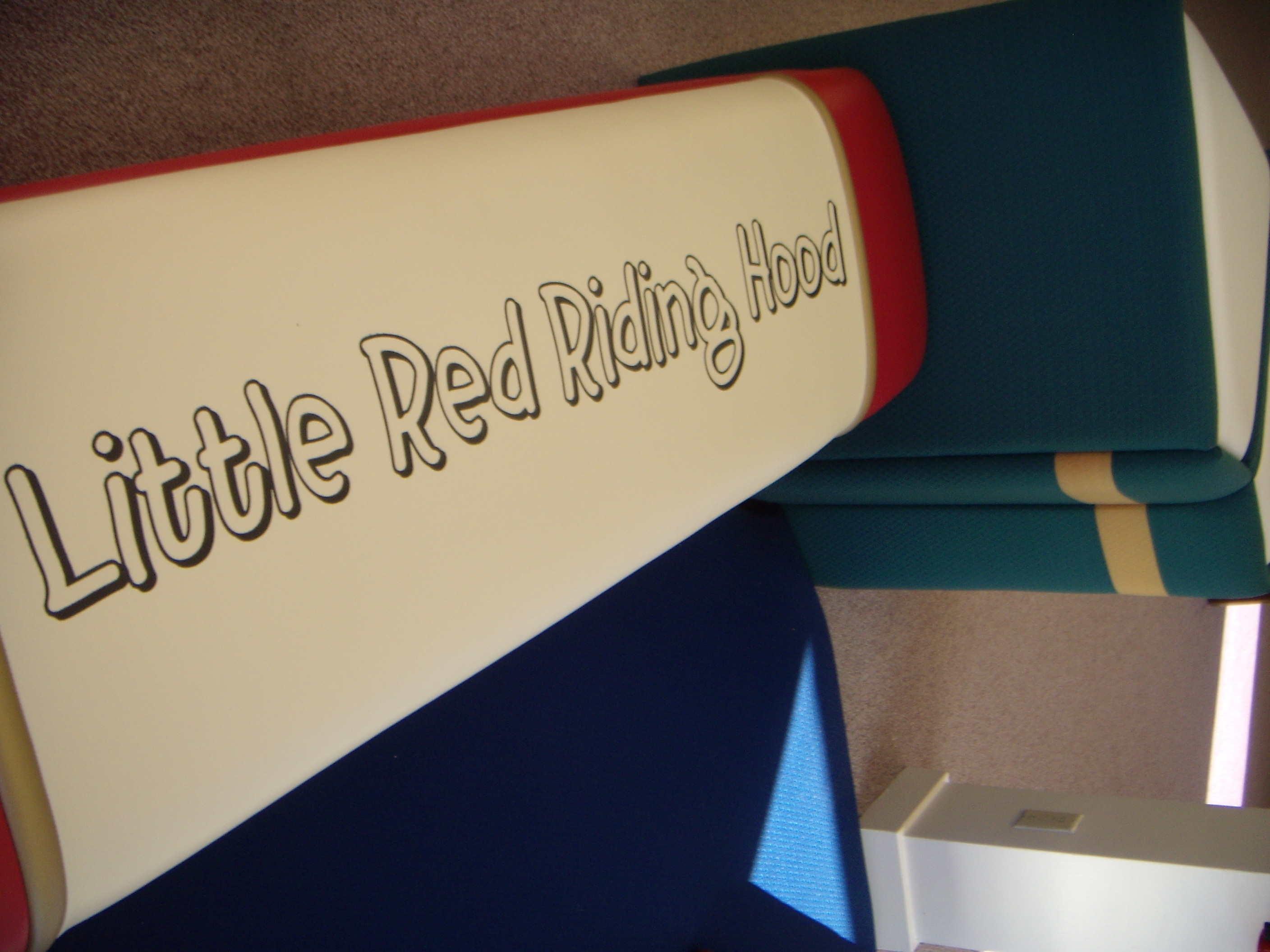 Little Red Riding Hood book-themed furniture