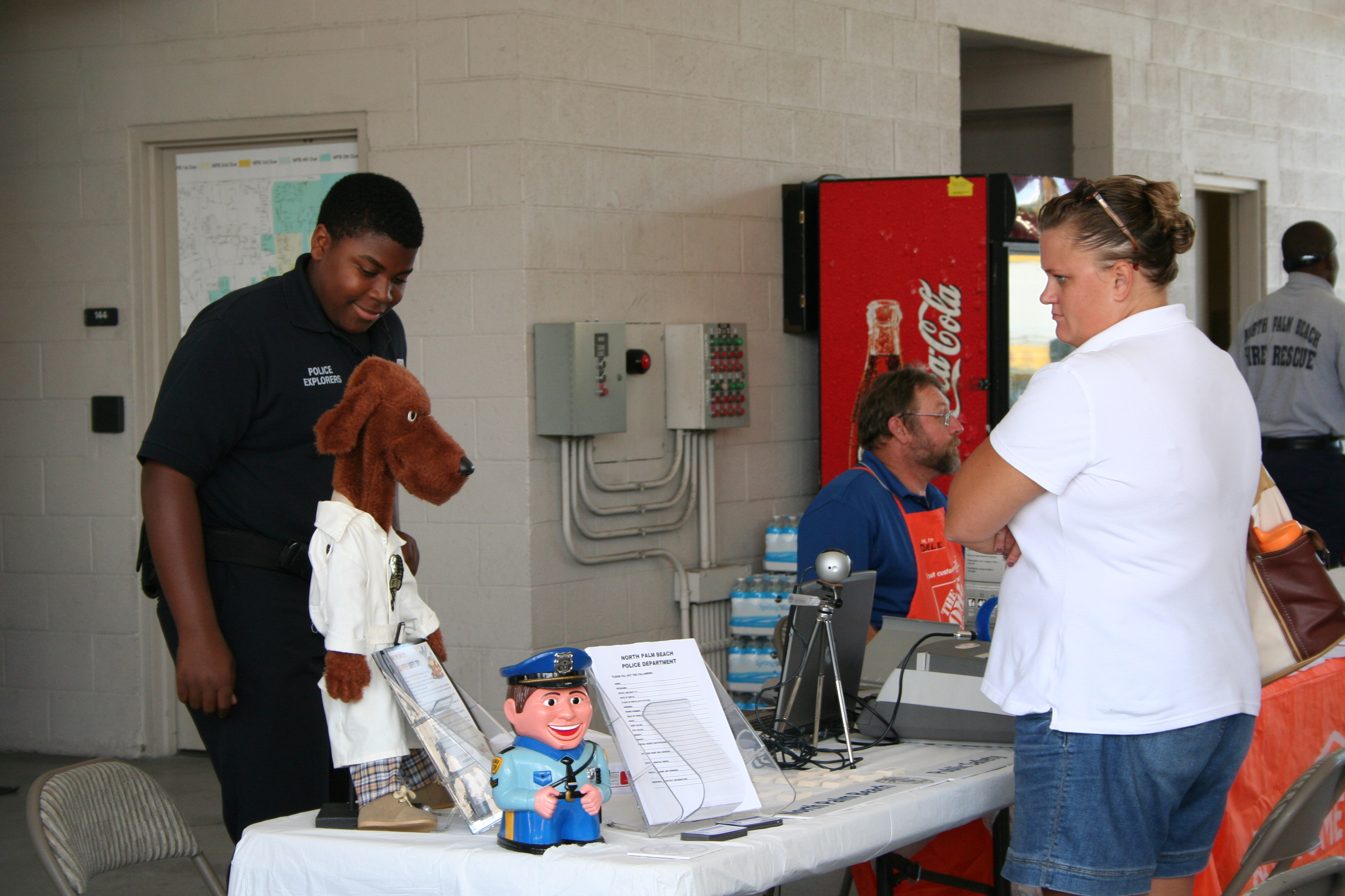 Citizens Visit Informational Booths at the Safety Fair