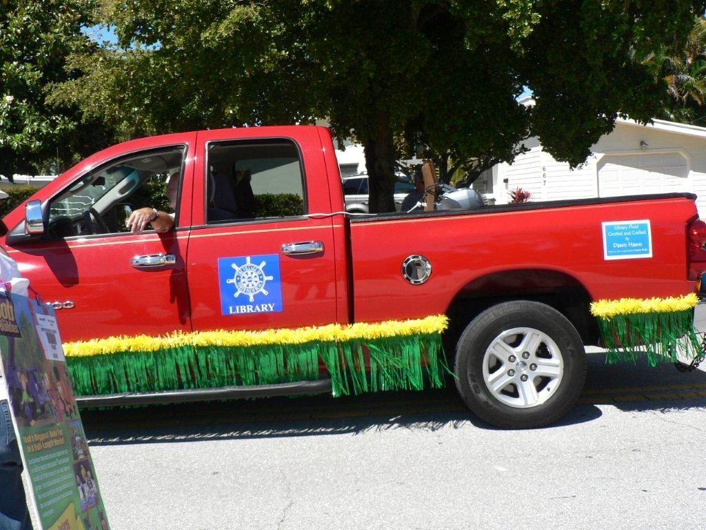 The truck pulling the Library's Float