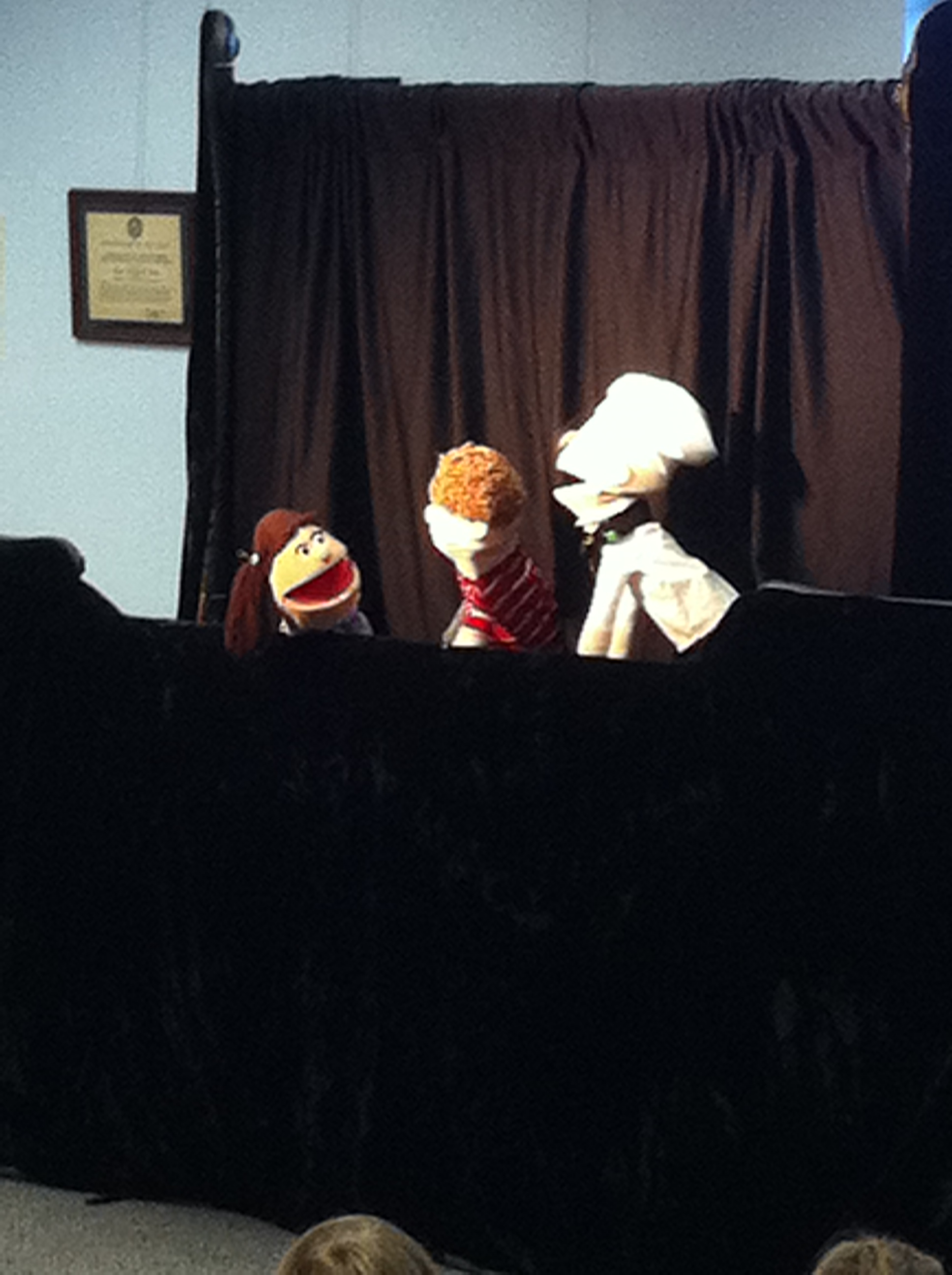 Puppets put on a show for children