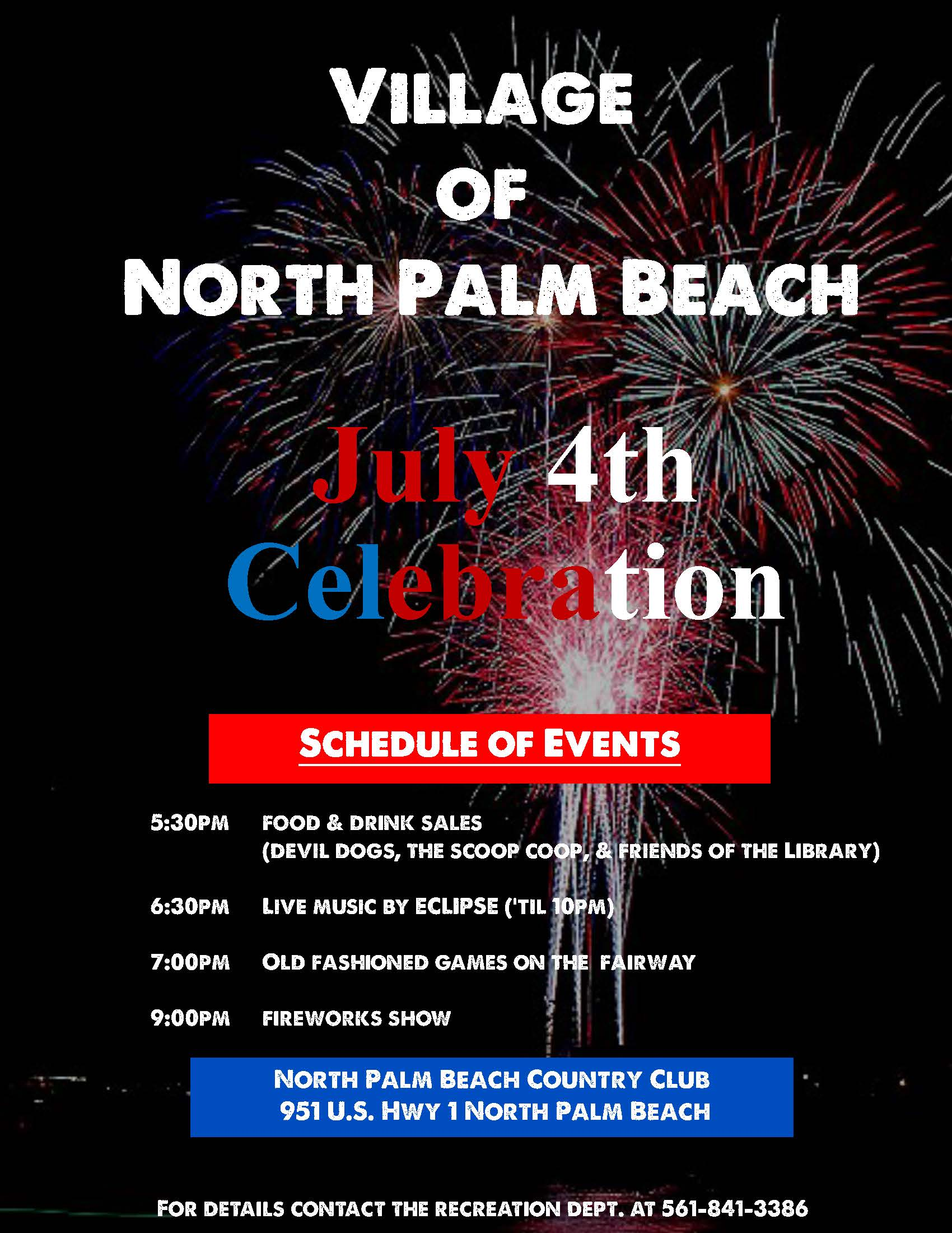 July 4 2019 - Schedule of Events