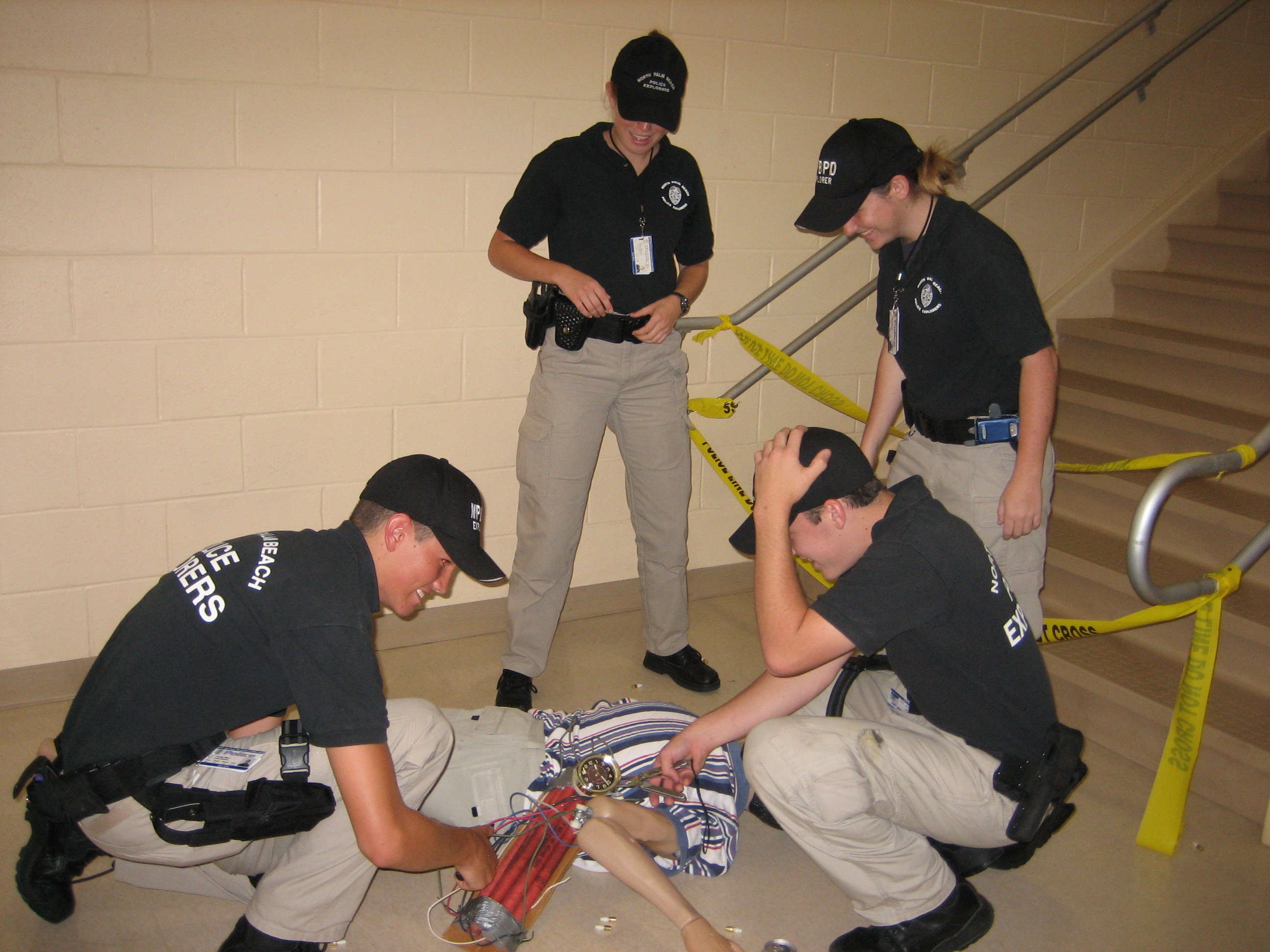 North Palm Beach Explorers Applying Their Knowledge to a Bomb Situation