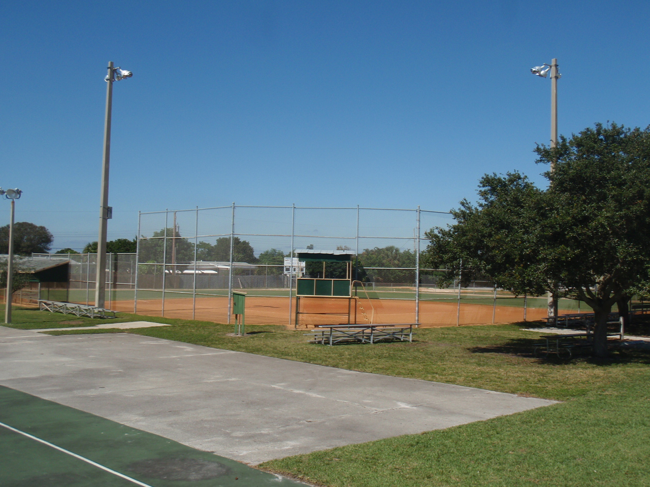 Osborne Park youth baseball field with dirt infield